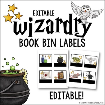 Wizardry Library Labels {Editable}