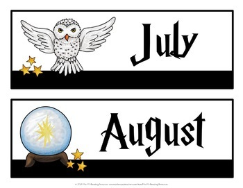 Wizardry Calendar Set
