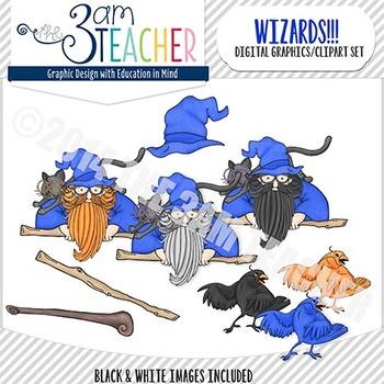 Wizards Clipart Set: Over 40 Custom Graphics