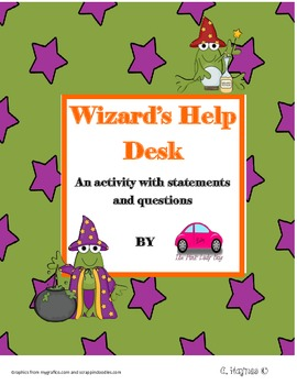 Wizard's Help Desk questions and statements