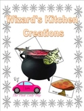 Wizard's Kitchen Creations missing numbers in equations 2nd grade