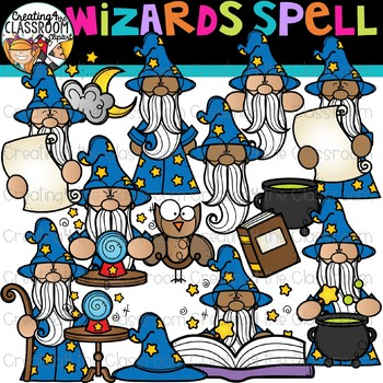 Wizards Spell Clipart {Fairytale Clipart}
