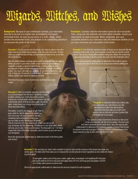 Wizards, Witches, and Wishes Activity