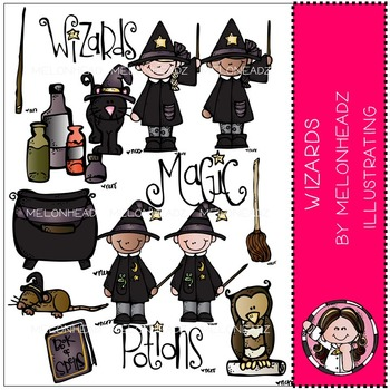 Wizards clip art - COMBO PACK- by Melonheadz