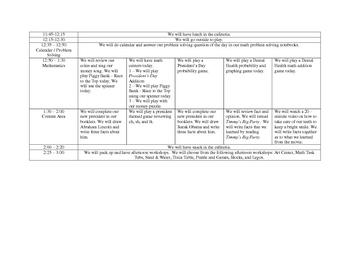 Wk of Feb 27 Plans