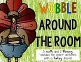 Wobble Around the Room!  Math and Language Arts activities