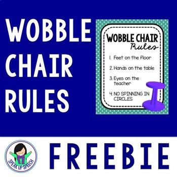 Wobble Chair Rules - FREEBIE