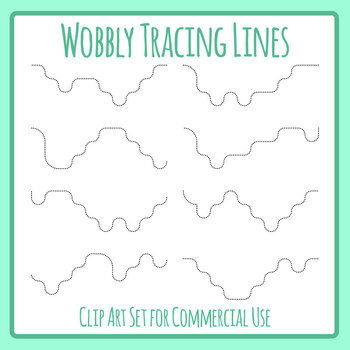 Wobbly Tracing Lines - Dashed Or Dotted Lines for Pencil Control Clip Art