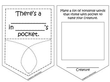graphic regarding Wocket in My Pocket Printable titled Theres A Wocket Inside My Pocket Printable Pocket Worksheets