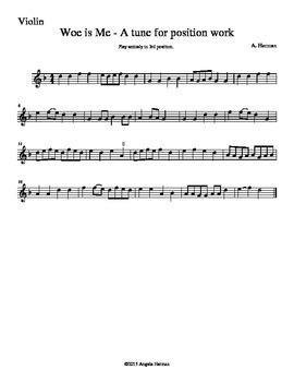 Woe Is  Me - Shifting Exercise for String Orchestra