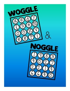 """Woggle"" and ""Noggle"" Games for Classroom (Boggle-style La"