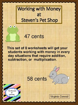 Working With Money at Steven's Pet Shop