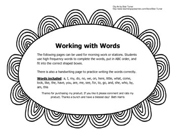 Woking with Words