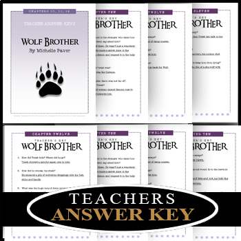 Wolf Brother / Chapters 4 - 6 / Editable Bundle / Answer Keys 21 Pages