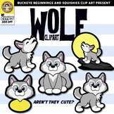 Wolf Clip Art {Squishies Clipart}