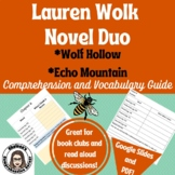 Wolf Hollow/Echo Mountain Novel Duo Comprehension and Vocabulary