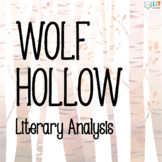 Wolf Hollow by Lauren Wolk: Novel Study Guide, Literary Analysis, 20 Assignments