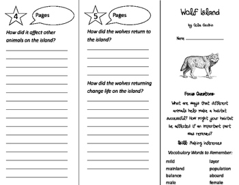 Wolf Island Trifold - Imagine It 3rd Grade Unit 2 Week 3