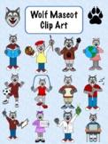 Wolf Mascot Clip Art