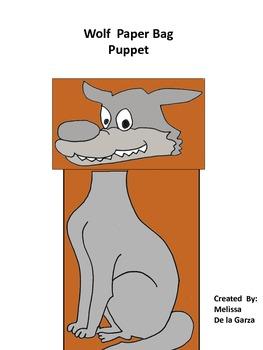 Wolf Paper Bag Puppet