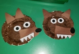 Wolf Paper Plate Craft