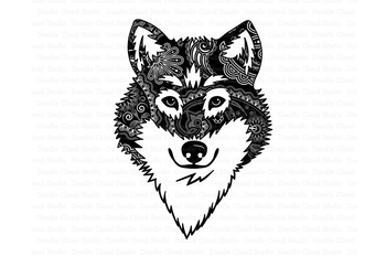 Wolf SVG, Wolf Head SVG, Wolf Mandala SVG files