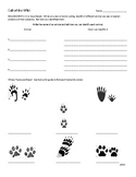 Wolf Scout Call of the Wild Req.6 (2018) Work Sheet