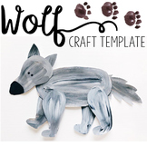Wolf Template for Art Project or Flannel Board