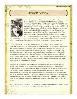 Wolf Themed Nature Education Unit-Stage 2 (Magic Forest Academy)