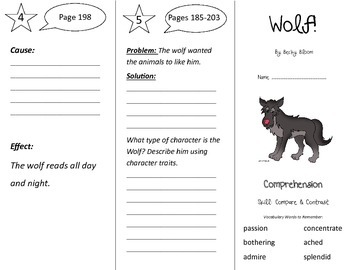Wolf! Trifold - Treasures 3rd Grade Unit 2 Week 2 (2009)