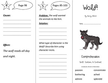 Wolf! Trifold - Treasures 3rd Grade Unit 1 Week 2 (2011)