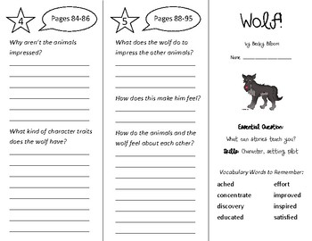 Wolf! Trifold - Wonders 3rd Grade Unit 1 - Independent Reading (2020)