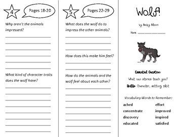 Wolf! Trifold - Wonders 3rd Grade Unit 1 Week 1