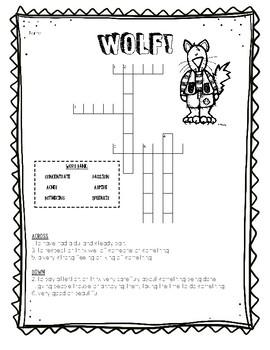 Wolf! Vocabulary Activities