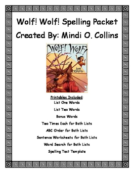 Wolf!  Wolf! (By: John Rocco) Short E Spelling Packet
