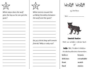 Wolf Wolf Trifold - Wonders 2nd Grade Unit 2 Week 2