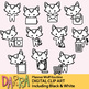 Wolf clipart / planner chore, routine activities clip art
