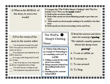 Wolf in Sheep's Clothing Fable Questions