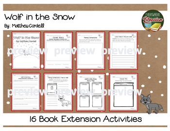 Wolf in the Snow by Matthew Cordell 15 Book Extension Activities NO PREP