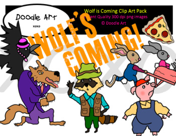 Wolf is Coming Clipart Pack