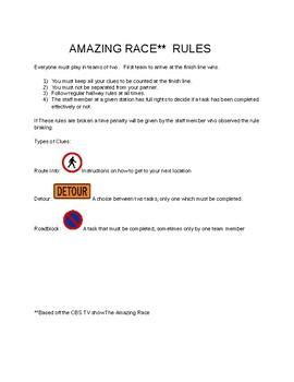 Amazing Race-Whole School-Culture Building