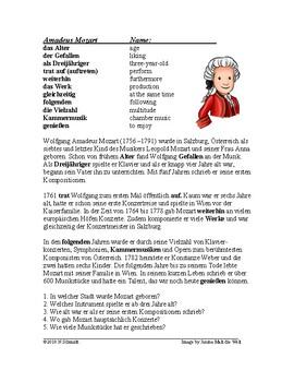 Wolfgang Amadeus Mozart Biography - German Reading / Lesung auf Deutsch