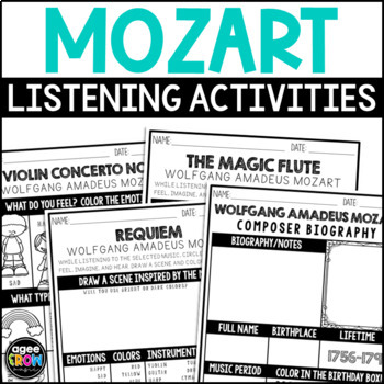 Wolfgang Amadeus Mozart, Classical Composer, Music Unit Study, January Birthday