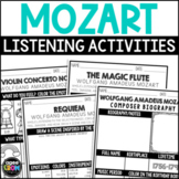Wolfgang Amadeus Mozart Composer Listening Activities, January, Classical Music