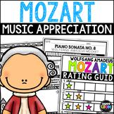 Wolfgang Amadeus Mozart Composer Listening Activities, January, Classical Music