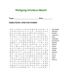 Wolfgang Amadeus Mozart (WORD SEARCH)