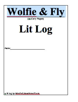 Wolfie & Fly Lit Log