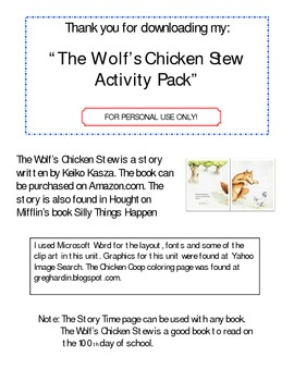 Wolf's Chicken Stew (Activity Packet)