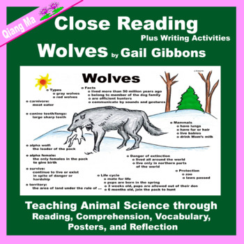 Close Reading: Wolves by Gail Gibbons