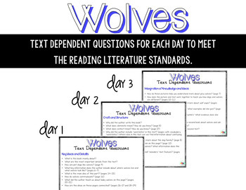 Wolves-Informational Read Aloud, Lesson Plans and Activities